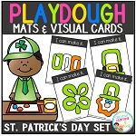 Playdough Mats & Visual Cards: St. Patrick's Day Set ~Digital Download~
