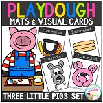 Playdough Mats & Visual Cards: Fairy Tale - The Three Little Pigs ~Digital Download~