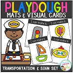 Playdough Mats & Visual Cards: Transportation & Traffic Signs Set ~Digital Download~