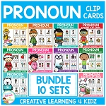 Pronoun Clip Card: BUNDLE ~Digital Download~
