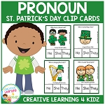 Pronoun Clip Cards: St. Patrick's Day   ~Digital Download~