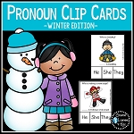 Pronoun Clip Cards: Winter ~Digital Download~