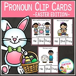 Pronoun Clip Cards: Easter ~Digital Download~