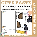 Cut and Paste Fine Motor Skills Puzzle Worksheets: Martin Luther King Day ~Digital Download~