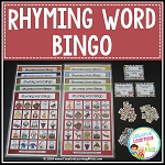 Rhyming Word Bingo Game ~Digital Download~