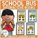 School Bus Interactive Books - Colors Emotions Counting Shapes ~Digital Download~