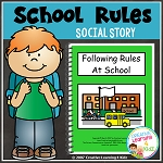 Social Story Following Rules At School ~Digital Download~