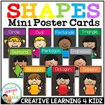 2D Shape Mini Poster Cards ~Digital Download~