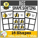 Shape Sorting Mats: Bee ~Digital Download~