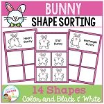 Shape Sorting Mats: Easter Bunny  ~Digital Download~