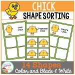 Shape Sorting Mats: Chick ~Digital Download~