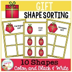Shape Sorting Mats: Gift Christmas ~Digital Download~