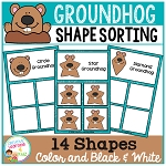 Shape Sorting Mats: Groundhog ~Digital Download~