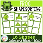 Shape Sorting Mats: Frog ~Digital Download~