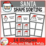 Shape Sorting Mats: Santa ~Digital Download~