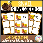 Shape Sorting  Mats: Snail ~Digital Download~