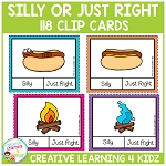 Silly or Just Right Clip Cards ~Digital Download~