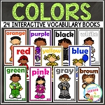 Interactive Vocabulary Books: Colors ~Digital Download~