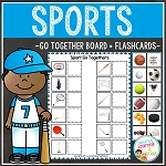 Sport Go Togethers Matching Board + Flashcards ~Digital Download~
