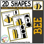 Shape Clip Cards: Bee ~Digital Download~