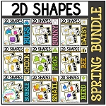 Shape Clip Card Bundle: Spring ~Digital Download~