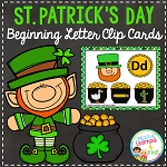 St. Patrick's Day Beginning Letter to Picture Clip Cards ~Digital Download~