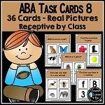ABA Task Cards 8 Receptive by Class ~Digital Download~