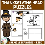 Thanksgiving Head Puzzle Worksheets ~Digital Downloads~