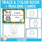 Trace & Color Easter Book + Tracing Cards Fine Motor Skills ~Digital Download~