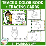 Trace & Color St. Patrick's Day Book + Tracing Cards Fine Motor Skills ~Digital Download~
