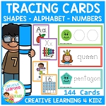 Tracing Cards Alphabet Numbers & Shapes ~Digital Download~