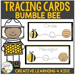 Tracing Cards Bumble Bee Set Fine Motor Skills ~Digital Download~