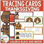 Tracing Cards Thanksgiving Set Fine Motor Skills ~Digital Download~