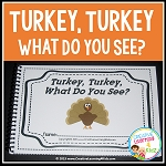Turkey, Turkey, What Do You See? Cut & Paste Book ~Digital Download~