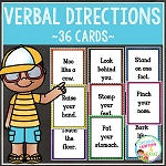 Verbal Direction Cards ~Digital Download~