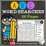 Alphabet Word Searches ~Digital Download~
