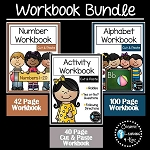 Cut & Paste Workbook Bundle Alphabet Numbers Riddles ~Digital Download~