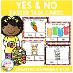 Yes & No Easter Picture Question Task Cards ~Digital Download~