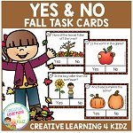 Yes & No Fall Picture Question Task Cards ~Digital Download~
