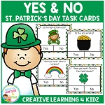 St. Patrick's Day Yes & No Question Task Cards ~Digital Download~