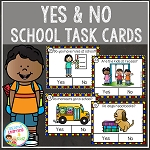Back to School Yes & No Picture Question Task Cards ~Digital Download~