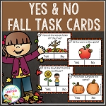 Fall Yes & No Picture Question Task Cards ~Digital Download~