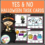 Halloween Yes & No Picture Question Task Cards ~Digital Download~