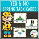 Spring Yes & No Question Task Cards ~Digital Download~