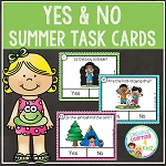 Summer Yes & No Question Task Cards ~Digital Download~