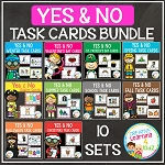 Yes & No Picture Question Task Card Bundle ~Digital Download~