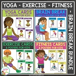 Yoga - Brain Break - Exercise - Fitness Card Bundle ~Digital Download~