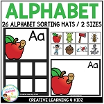 Alphabet Sorting Mats + Alphabet Cards ~Digital Download~