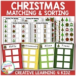Christmas Matching & Sorting Board Bundle ~Digital Download~