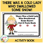 There Was a Cold Lady Who Swallowed Some Snow! Cut & Paste Book ~Digital Download~